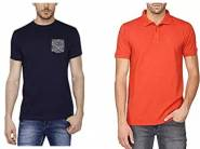 Branded Mens T-shirts at Minimum 70% Off starts from Rs.249
