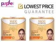 Lowest Price:- VLCC Chandan & Kesar Facial Kit (Pack of 2) + Free Shipping