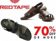Min. 70% off on RedTape Leather Sandals from Rs.474