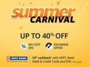 Amazon Summer Carnival Is Live - Get Up to 40% Off + 10% Cashback