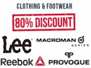 Offers Added:- Minimum 80% off on Top Clothing & Footwear