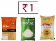 Loot:- Sunflower Oil @1, 1 Kg Dal @ 1, Madhur Sugar@ 1, & More Offer