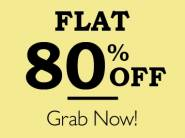 Deals Updated:- Top Brand at Flat 80% off + 15% Cashback & More Offers