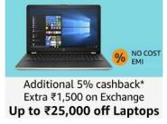 Laptop Crazy Deal:- Upto Rs. 25000 off + Rs. 1500 off on Exchange & Bank Offer