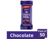 [80% Cliamed] Cadbury Dairy Milk Chocolate, 12g (Pack of 50)