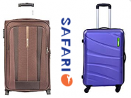 Safari Suitcases & Trolley Bags at Minimum 70% Off + Free Shipping