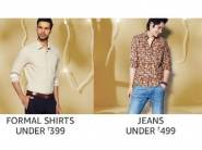 Budget Buys - Backpacks, Shoes, Jeans, Shirts Under Rs. 499 + 15% Cashback
