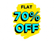 Crazy Offers To Grab - Products From All Categories Flat 70% Off