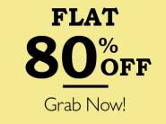Bumper Deal- Products All Categories Flat 80% Off + 10% Cashback