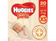 Free shipping: Huggies Ultra Soft Diaper Pants XS Pieces at Rs.99