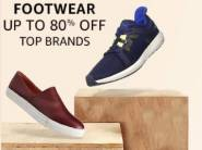 Steal:- Top Footwears Brand Up to 80% Off + Rs. 1000 Cashback
