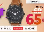 Must Buy:- Up to 65% Off on Timex, Daniel Klein Watches + Rs. 1000 Cashback