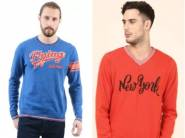 Flying Machine, Metronaut, Peter England Sweaters From Rs. 489