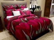 FLAT 74% OFF on Home Candy Elegant Print Microfiber Double Bedsheet with 2 Pillow Covers
