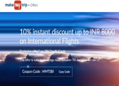 International Flights Exclusive Discount Offers:- Get 10% Discount [ Up to Rs. 8000 ]