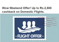 Cleartrip Weekend Offer:- Up to Rs.2,500 cashback on Domestic Flights