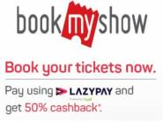 Get Upto Rs.125 Cashback On Movie Ticket With LAZYPAY
