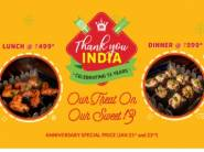 Anniversary Special:- Lunch at Rs. 499 & Dinner at Rs.599 at Barbequenation
