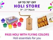 Amazon Holi Store: Up to 70% Off on Colors, Sweets, Holi Essentials Or More