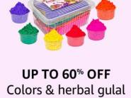 Up to 60% Off on Colors & Herbal Gulals for HOLI + Free Shipping