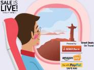 Great Deals on Travel - Save Rs.1500 on Domestic Flights and Save Rs.10,000 on international flights