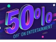 BookMyShow Surprise - Flat 50% off on Tickets + Rs.12 FKM Cashback