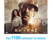 Get 100% Cashback upto Rs.100 on Bharat Movie