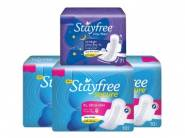 Stayfree Secure XL Ultra Thin Sanitary Napkins 30 Pads [Extra 7] at Just Rs.193