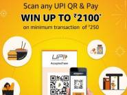 Scan Any UPI QR & Pay Win Up To Rs. 2100 [ Till 30th September ]