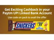 Paytm Cashback Offer - Get Free Up to Rs.40 on Snickers Pack