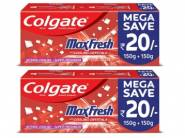 Colgate MaxFresh Toothpaste 300gm (Pack of 2) at Rs. 203