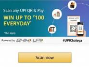 Extended Till 31st May : Scan & Pay & Get Upto Rs.100 Cashback Daily !!