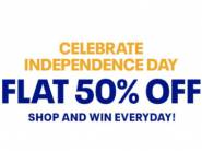 Daily Reward - Flat 50% off Reebok + 10% off Via + 11% FKM Cashback