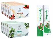 One Year Stock - 12Pcs Soap + 12Pcs Toothpaste For Rs. 14 Each