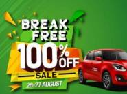 Zoomcar Break Free sale - 100% Off On Booking [ Live Now Hurry ]