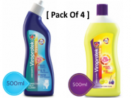 Toilet Cleaner 500ml (2 Units) + Floor Cleaner 500 ml (2 Units) For Free