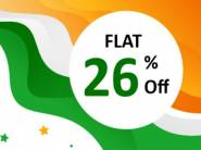 Flat 26% off on All Products + Extra 15% FKM Cashback