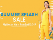 Summer Splash Sale: Night Wears Starts From Rs. 549 + Rs. 300 FKM Cashback