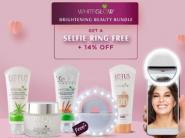100% Guaranteed Cashback: FREE Selfie Ring + WhiteGlow Brightening Beauty Bundle At Just Rs. 753 + Free Shipping !!