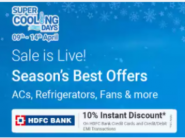 Super Cooling Days : Up to 65% Off + 10% Bank Off + Extra FKM Rewards