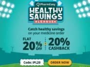 Pharmeasy Live Again - 20% off + 20% CB + Extra Rs. 250 FKM Cashback On Medicine Orders