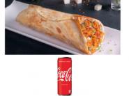 Sunday Special : Masala Paneer Tikka Wrap + Coke (330ml) At Just Rs.63 + Free Shipping !!