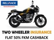 LAST FEW HOURS : Flat 50% FKM Cashback On Two Wheeler Insurance + Zero Paperwork !!