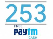 Increased CB - FREE Rs. 253 Paytm Cash [ Confirmed In 15 Days ]