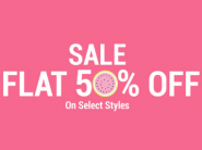 Flat 50% Off: Fashion & Accessories Starting At Rs. 100 + Extra Rs. 250 FKM Cashback