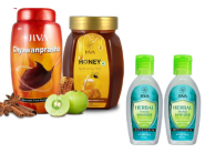 Chyawanprasha (1 kg) + Honey + Herbal Hand Sanitizer [ Pack Of 8 ] At Rs. 319