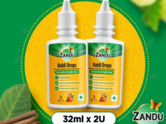 Back In Stock On Demand : Zandu Haldi Drops (Pack Of 2) At Just Rs.126 Each !!