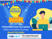 Unbeatable Deals On Laptops + Rs. 1750 Bank Off + Offers On Online Courses + Extra FKM Cashback !!