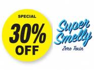 Supersmelly Exclusive Sale - Flat 30% Off Sitewide + Extra 20% FKM Cashback [ No Min Order ]