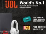 JBL Anniversary - Assured Free 3 Month Prime + Rs. 100 Food Coupon